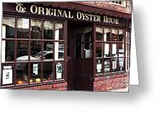 Original Oyster House Greeting Card by John Rizzuto