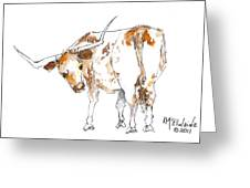 Original Texas Whimsey Greeting Card by Kathleen McElwaine