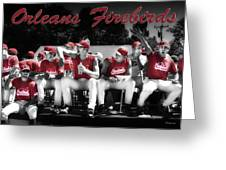 Orleans Firebirds Baseball Team Greeting Card by Dapixara Art