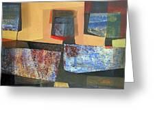 Os1957bo011 Abstract Landscape Of Potosi Bolivia 18 X 33.3 Greeting Card by Alfredo Da Silva