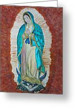 Our Lady Of Guadalupe Greeting Card by Kerri Ligatich