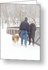 Our Love Will Keep Us Warm Greeting Card by Larry Ricker