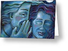 Our Secret Painting 49 Greeting Card by Angela Treat Lyon