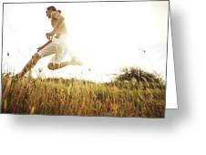 Outdoor Jogging II Greeting Card by Brandon Tabiolo - Printscapes
