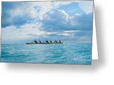Outrigger Canoe Greeting Card by Bob Abraham - Printscapes