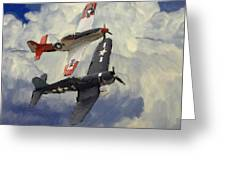 Over The Clouds 2 Pastel Greeting Card by Stefan Kuhn