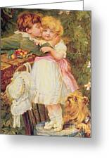 Over The Garden Wall Greeting Card by Frederick Morgan