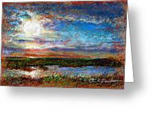 Over The Marsh Greeting Card by Peter R Davidson