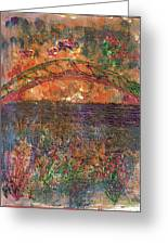 Over The River And Through The Woods Greeting Card by Anne-Elizabeth Whiteway