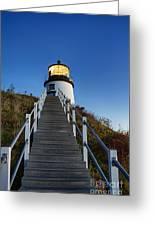 Owls Head Lighthouse Greeting Card by John Greim
