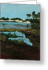 Oyster Lake Greeting Card by Racquel Morgan