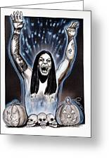 Ozzie's Halloween Greeting Card by Dave Olsen