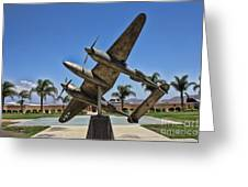 P-38 Memorial March Field Museum Greeting Card by Tommy Anderson