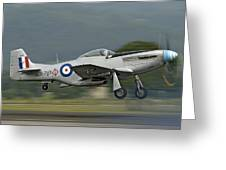 P-51 Mustang Greeting Card by Barry Culling