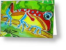 Pa Froggy Greeting Card by Kelly     ZumBerge