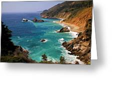 Pacific Coast Blues Greeting Card by Donna Kennedy