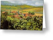 Paesaggio Toscano Greeting Card by Guido Borelli