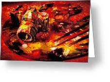 Painted camera Greeting Card by Garry Gay