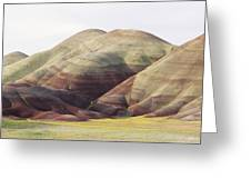 Painted Hills Greeting Card by Greg Vaughn - Printscapes