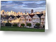 Painted Ladies in SF California Greeting Card by Pierre Leclerc Photography