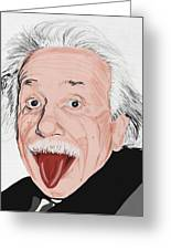 Painting Of Albert Einstein Greeting Card by Setsiri Silapasuwanchai