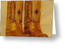 Pair of Cowboy Boots Greeting Card by Russell Ellingsworth