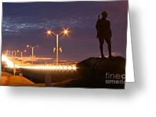 Palatka Memorial Bridge Doughboy Greeting Card by Angie Bechanan