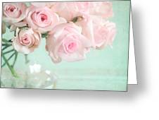 Pale Pink Roses Greeting Card by Lyn Randle