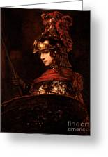 Pallas Athena  Greeting Card by Rembrandt