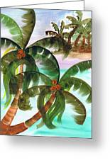 Palm Trees Breeze Greeting Card by Cheryl Fox