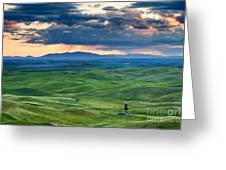 Palouse Storm Greeting Card by Mike  Dawson