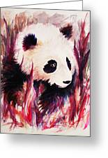 Panda Greeting Card by Rachel Christine Nowicki