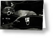 Panhandling Dog Greeting Card by Julie Niemela