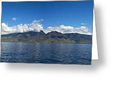 Panoramic West Maui Greeting Card by Dave Fleetham - Printscapes
