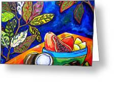 Papaya Morning Greeting Card by Patti Schermerhorn