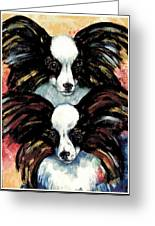 Papillon De Mardi Gras Greeting Card by Kathleen Sepulveda