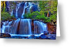 Paradise Falls Greeting Card by Scott Mahon