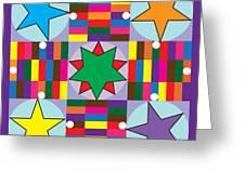 Parcheesi Board Greeting Card by Eric Edelman