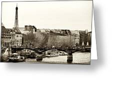 Paris Days Greeting Card by John Rizzuto