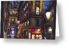 Paris Old street Greeting Card by Yuriy  Shevchuk