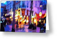Paris Quartier Latin 02 Greeting Card by Yuriy  Shevchuk