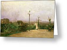 Paris Seen From The Heights Of Montmartre Greeting Card by Jean dAlheim