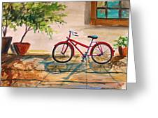 Parked In The Courtyard Greeting Card by John Williams