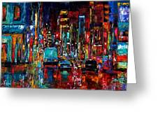 Party Of Lights Greeting Card by Debra Hurd