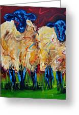 Party Sheep Greeting Card by Diane Whitehead