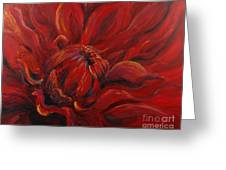 Passion II Greeting Card by Nadine Rippelmeyer