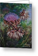 Past Presence Greeting Card by Debbie Harding
