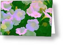 Pastel Flowers Greeting Card by Tom Prendergast