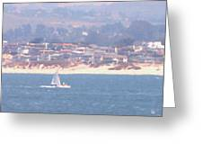 Pastel Sail Greeting Card by Pharris Art