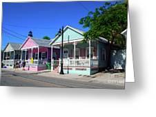 Pastels Of Key West Greeting Card by Susanne Van Hulst